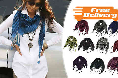 Bazaar me - Check Print Desert Scarf Ten Colours With Free Delivery - Save 20%
