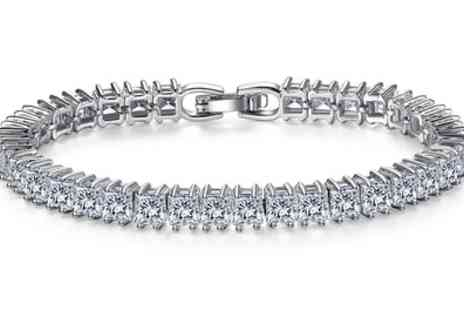 Groupon Goods Global GmbH - One or Two Sapphire Tennis Bracelets  - Save 95%