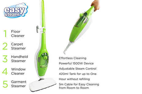 Who Needs Shops - Nine in one steam mop set with attachments and cleaning pads - Save 76%