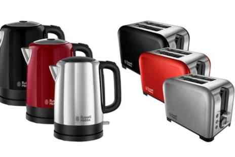 Groupon Goods Global GmbH - Russell Hobbs Canterbury Kettle and Toaster Set With Free Delivery - Save 56%