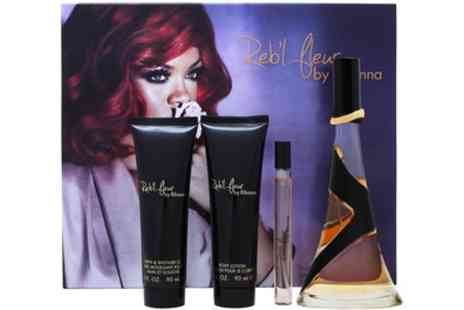 Groupon Goods Global GmbH - Rihanna Rebl Fleur Fragrance Gift Set With Free Delivery - Save 28%