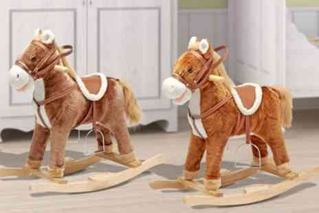 Groupon Goods Global GmbH - Rocking Horse with Moving Mouth, Tail and Sound in Choice of Colour  - Save 50%