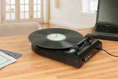Groupon Goods Global GmbH - USB Turntable and Record Converter With Free Delivery - Save 67%