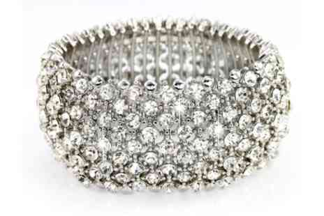 Groupon Goods Global GmbH - Nine Row Crystal Cuff Bracelet - Save 83%