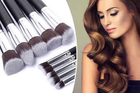 Alvi's Fashion - 10 piece makeup brush set - Save 86%