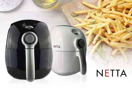 Consumable Direct - 2.2L NETTA healthy air fryer choose from white or black - Save 61%