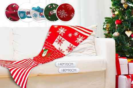 EF Mall - Christmas mermaid tail blanket choose from six designs - Save 80%