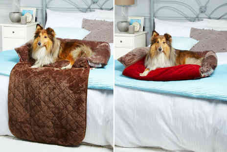 LaRoc - Soft tartan dog bed choose from brown and red in three sizes - Save 29%