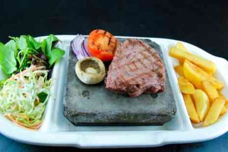 Olive Bar & Grill - Two Course Steak Dinner for Two or Four with a Bottle of Wine to Share  - Save 62%