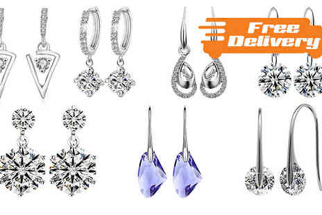 Trendy Banana - Choice of Drop Earrings with Swarovski Elements Seven Designs With Free Delivery - Save 67%