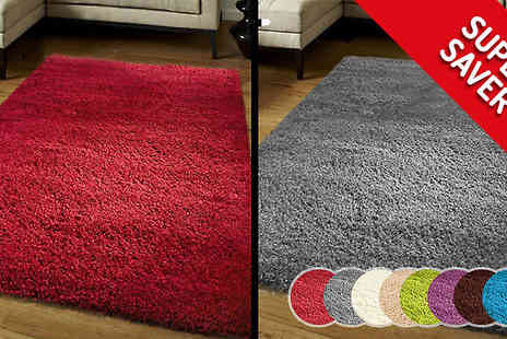 Funky Buys - Shaggy Rug Four Sizes and Ten Colours - Save 73%