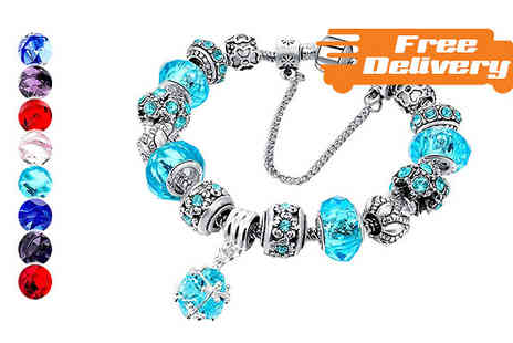 Trendy Banana - Heart or Round Charm Bracelet Five Colours With Free Delivery - Save 67%
