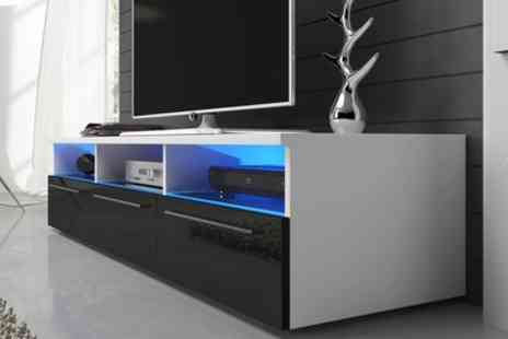 Groupon Goods Global GmbH - Detroit TV Cabinet with LED Lighting With Free Delivery - Save 0%