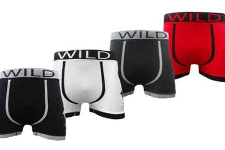 Groupon Goods Global GmbH - Six Pack of Mens Seamfree Boxershorts in Choice of Colours and Sizes - Save 0%