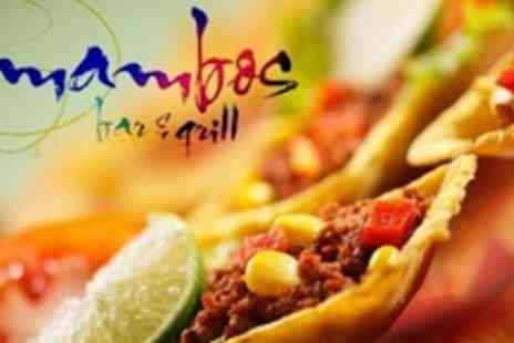 Mambos Bar & Grill - Latin American and Mexican Cuisine For Two - Save 60%