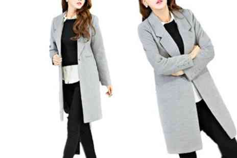 Groupon Goods Global GmbH - Womens Smart Wool Blend Coat With Free Delivery - Save 59%