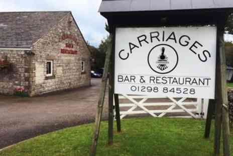 Carriages Bar and Restaurant - Two Course Meal for Two or Four - Save 51%