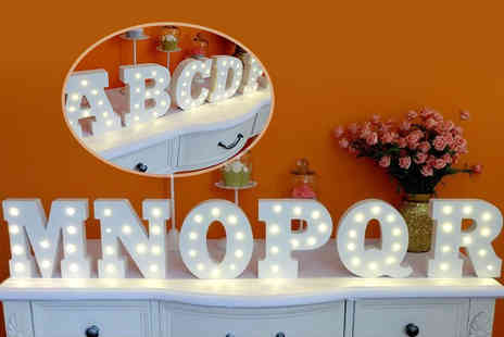 TLD Marketing - 18cm high wooden light up LED alphabet letter - Save 73%