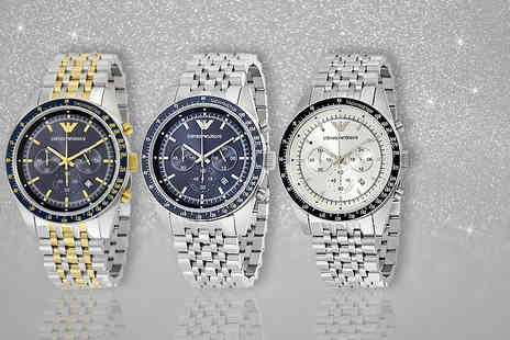 The Watch Supermarket - Mens Emporio Armani watch choose from three seriously suave styles - Save 51%