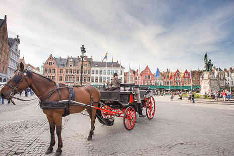 Short Break - Day trip via Eurostar in Bruges with chocolate tour or four star one or two night stay - Save 35%