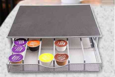 Deals Direct - Coffee machine stand and capsule pod storage drawer - Save 80%