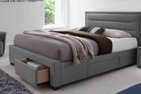 Groupon Goods Global GmbH - Double or King Size Colchester Four Drawer Bed Frame With Free Delivery - Save 60%