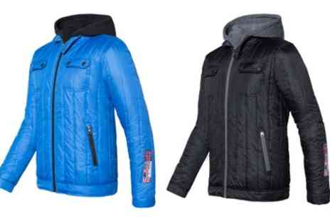 Groupon Goods Global GmbH - Mens Atlanta Padded Hooded Jacket in Choice of Size and Colour With Free Delivery - Save 76%