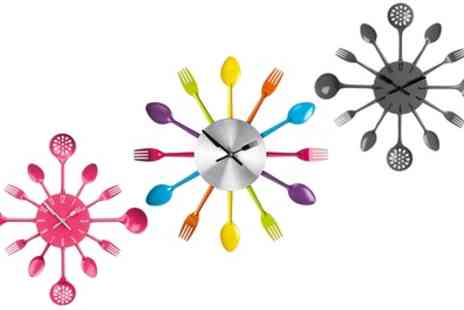 Groupon Goods Global GmbH - Cutlery Wall Clocks - Save 52%