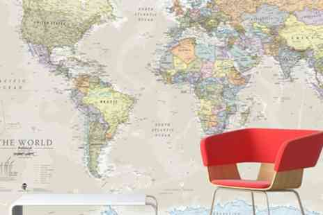 Groupon Goods Global GmbH - Giant World Map Mural - Save 77%