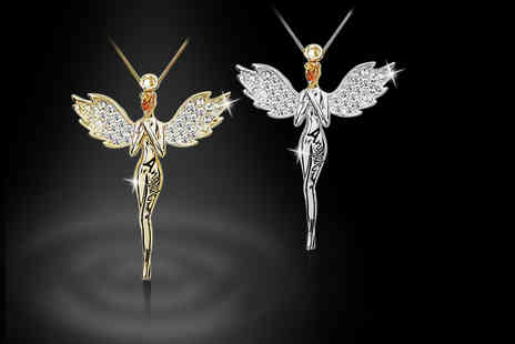 Alvis Fashion - Guardian angel necklace choose from silver or gold plated - Save 0%