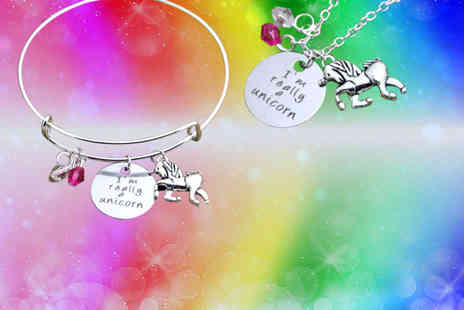 Solo Act - I'm really a unicorn bracelet, necklace or both - Save 77%