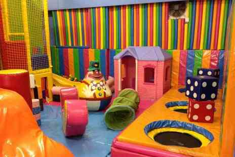 Clownaround - Three hours of soft play for two adults and two kids with sandwiches, drinks and a snack for each child - Save 53%