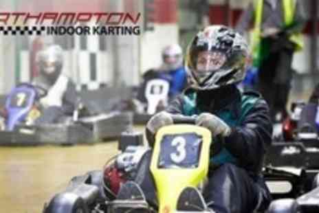 Northampton Indoor Karting - 40 Laps of Go-Karting For Two - Save 58%