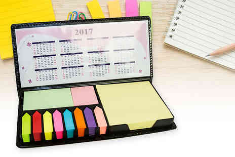 Partikle - Sticky note memo pad pack with sticky notes, tabs and 2017 calendar - Save 75%