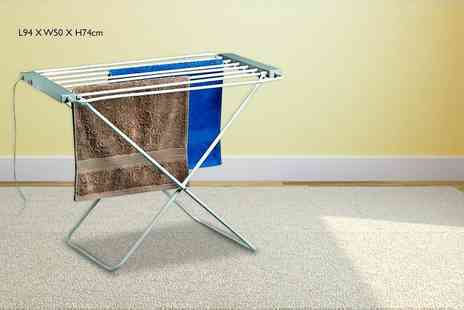 direct2publik - Standard folding electric clothes rack or winged rack - Save 71%