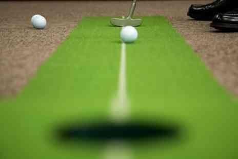 The Green - Indoor Golf with Nachos and Beer for Two of Four - Save 63%