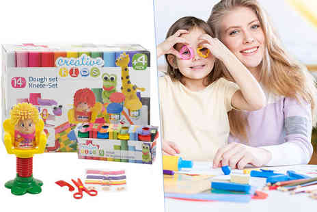 Partikle - 14 piece hairdressing play dough craft set - Save 72%