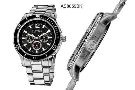 Buy Bay - Mens dual time August Steiner watch choose from four styles - Save 88%