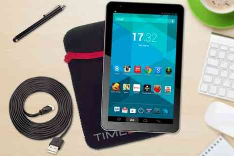 Groupon Goods Global GmbH - 9 inch Android Quad Core Tablet Bundle Incuding Pouch, Stylus & 3m Micro USB Cable With Free Delivery - Save 61%