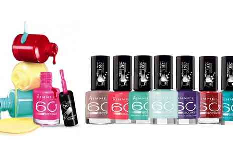 Groupon Goods Global GmbH - 8, 16 or 24 Shades of Rimmel 60 Second Nail Polishes - Save 58%