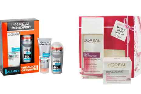 Groupon Goods Global GmbH - LOreal Paris Men Expert and Skin Perfect Beauty Gift Sets for Him and Her - Save 47%