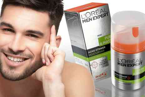 Groupon Goods Global GmbH - LOreal Men Expert Acno Striker Moisturiser With Free Delivery - Save 38%