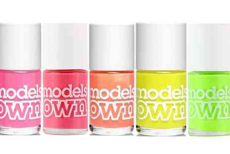 Groupon Goods Global GmbH - Pack of Five Models Own Nail Polishes - Save 80%