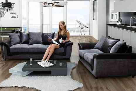 Groupon Goods Global GmbH - Aston Fabric 3 plus 2 Sofa in Choice of Design With Free Delivery - Save 55%