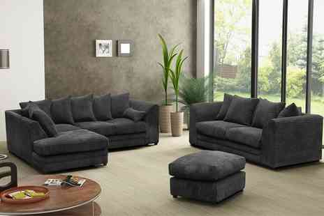 Groupon Goods Global GmbH - Milo Plain Sofa Collection With Free Delivery - Save 55%