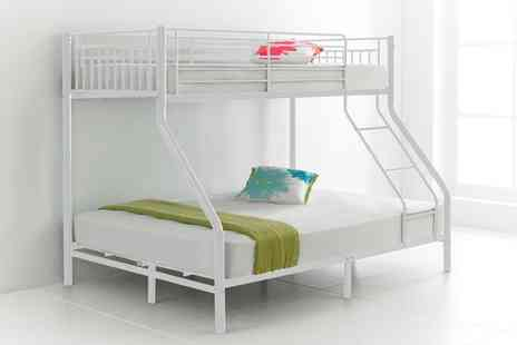 Groupon Goods Global GmbH - 3ft Cherry White Triple Sleeper Bunk Bed With Free Delivery - Save 64%