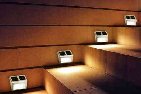 Groupon Goods Global GmbH - Two LED Solar Step Lights - Save 72%