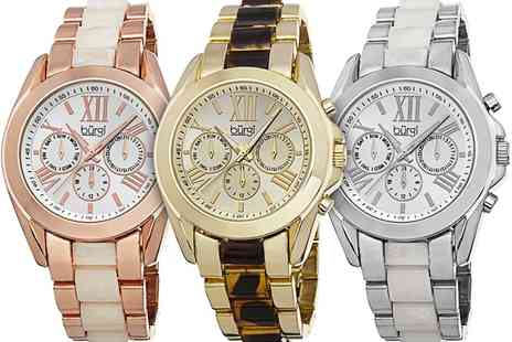 Groupon Goods Global GmbH - Womens Burgi Multifunction Watch With Free Delivery - Save 87%