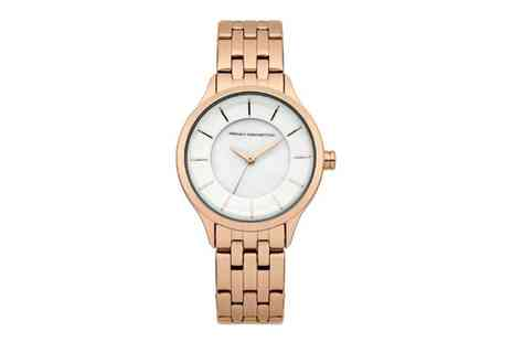 Groupon Goods Global GmbH - French Connection Abbey Womens Quartz Rose Gold Wrist Watch With Free Delivery - Save 63%