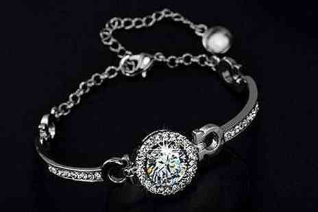 Groupon Goods Global GmbH - 3.5 Carat Bracelet with Crystals from Swarovski - Save 90%